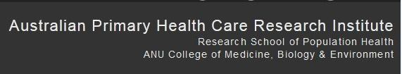 Research School of Population Health ANU College of Medicine, Biology and Environment